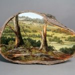 Gorgeous Paintings on Fallen Tree Logs Mirror Their Natural Origins