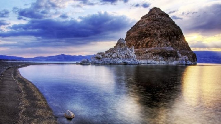 Pyramid Lake is the geographic sink of the Truckee River Basin, fed by the Truckee River