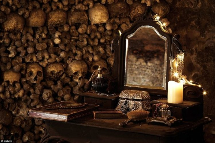 For a chance to be the first to wake up in the catacombs, hopefuls must write 100 words on why they're brave before October 20
