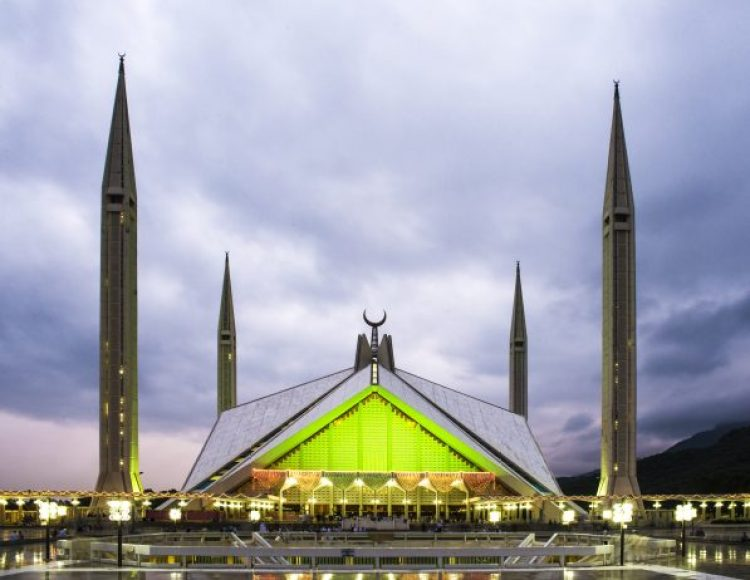 The Faisal Mosque is the largest mosque in Pakistan, located in the national capital city of Islamabad. Completed in 1986.