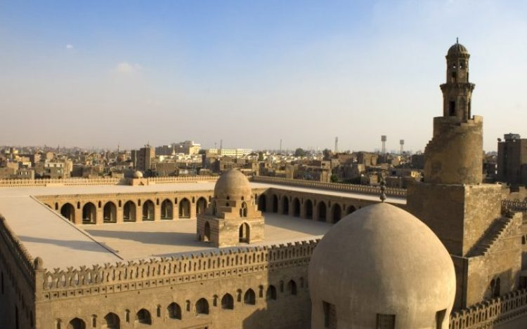 The Mosque of Ahmad Ibn is located in Cairo, Egypt is arguably the oldest mosque in the city surviving in its original form, and is the largest mosque in Cairo in terms of land area.