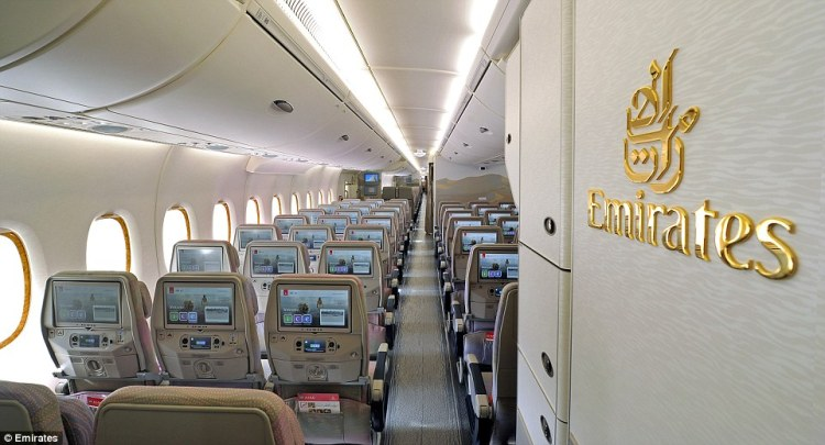 With no first class and fewer flat-bed seats in business class, there are about 130 additional economy seats on the new A380