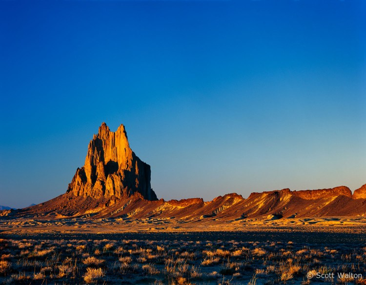 Shiprock sunset, Shiprock, New Mexico