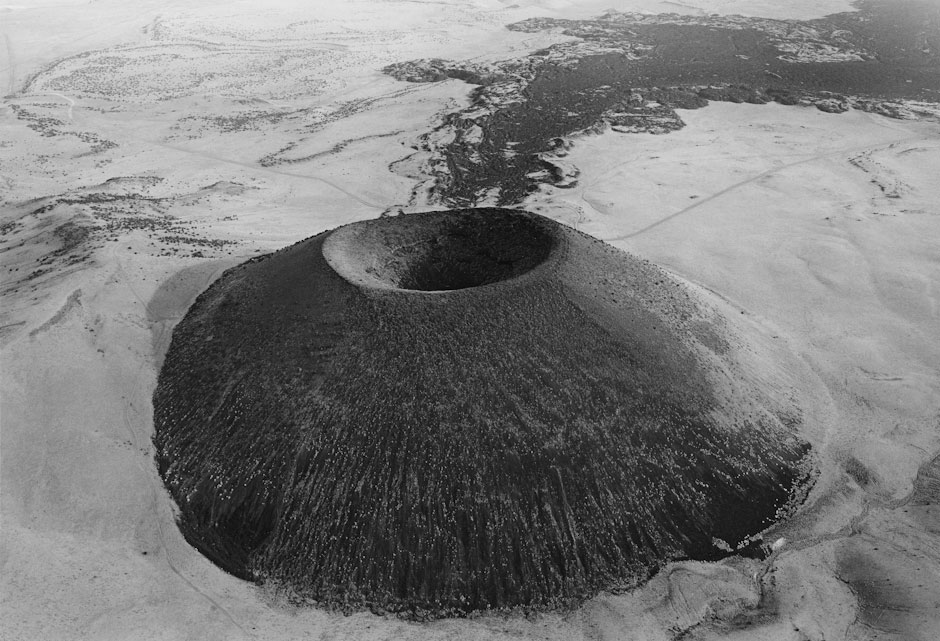 S.P. Crater, A Cinder Cone Volcano in the Desert of San Francisco