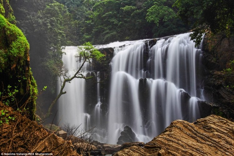 The lush jungles of Western Ghats are home to waterfalls like the Sathodi Falls in Karnataka. The region is perhaps more closely associated with its beaches and monuments
