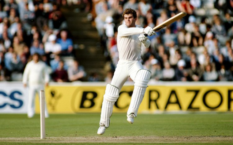 Martin Crowe cuts, England v New Zealand, 1st Test, The Oval, 5th day, July 18, 1983