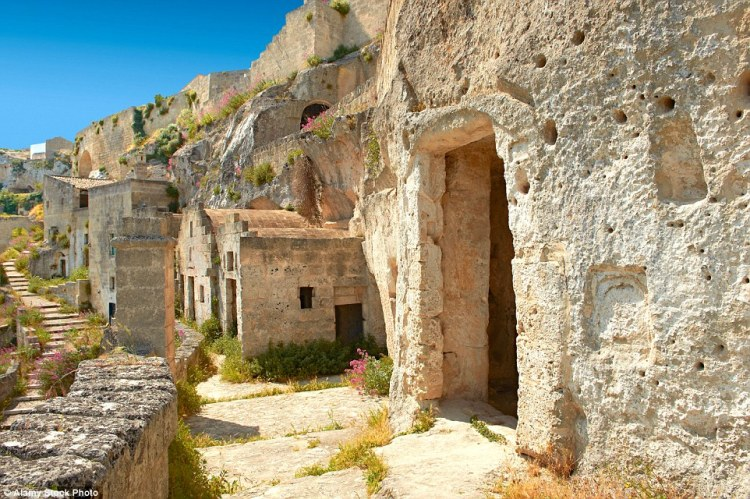 """In the Basilicata region, in Southern Italy, there's an ancient city called """"Matera"""" well-known for its cave houses called """"Sassi""""."""