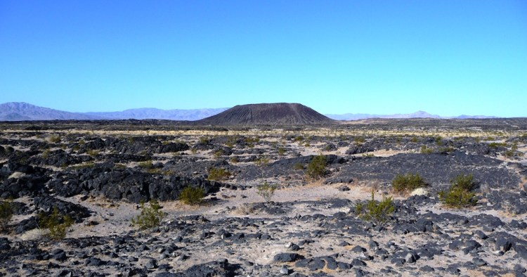The Amboy Crater blankets the surrounding area, and last recorded eruption was more than then thousand years ago.