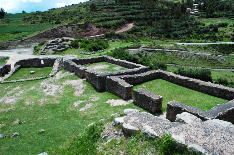 This is actually a big fortress, made of large walls, terraces, and staircases an example of military architecture.