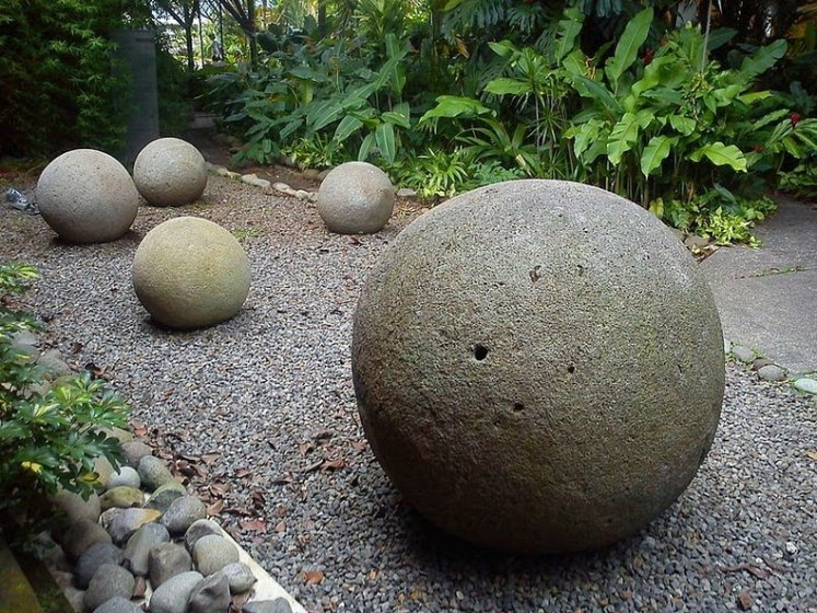 Stone spheres at the National Museum of Costa Rica.