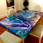 Mesmeric Acrylic and Resin Swirl Table Brings the Cosmos to the Dining Room