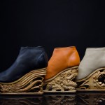 Gorgeous Hand-Carved Wooden Heels with Pagoda Techniques