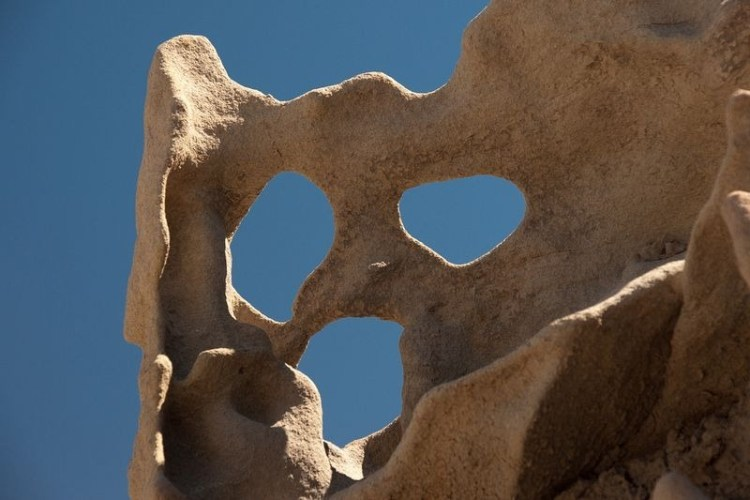 The rare rock formations in Fantasy Canyon will eventually weather away and then topple and erode into sand