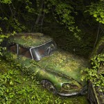 The Gorgeous Images of Deserted Cars Enveloped by Nature