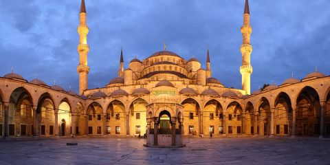 The Sultan Ahmed Mosque is a historic mosque located in Istanbul, Turkey. The mosque is a popular tourist site, continues to serve purpose of mosque nowadays.