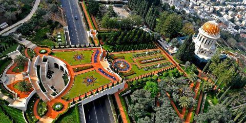Terraces of the Bahá'í Faith, in Isarel is most admired place.Terraces of the Bahá'í Faith, in Isarel is most admired place.