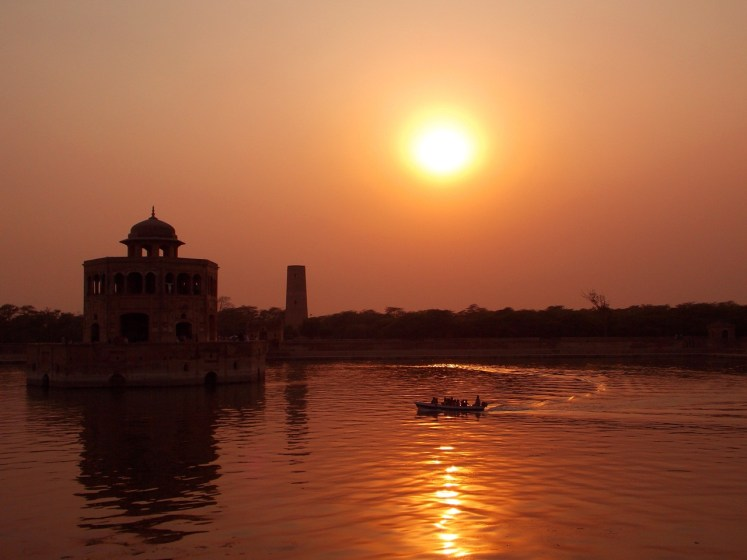 A Beautiful Sunset View at Hiran Minar