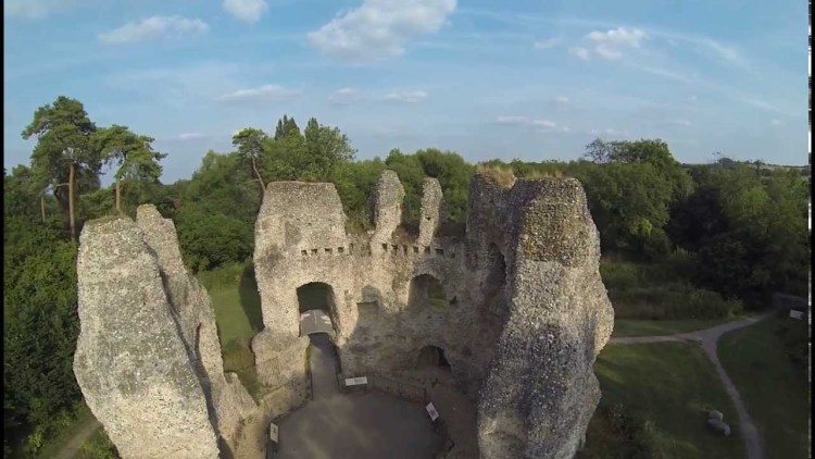 Now a day, Odiham Castle is open for public and only visible remains are part of octagonal keep and outlaying earth works.