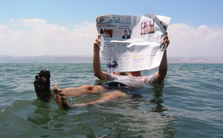 Even a person can read a newspaper or a book, without fear to wet it. This water is not suitable for living beings, though tiny bacteria and microfungi are present here.