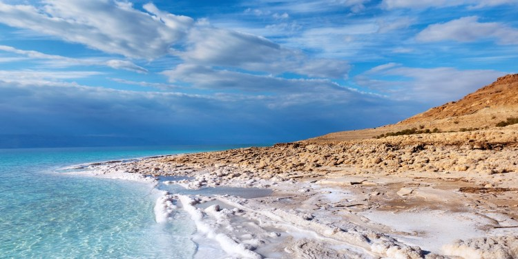 The Dead Sea one of the most saline water bodies in the world (33.7%). Such a remarkably high salt concentration lets people to effortlessly float on the surface of the water in a natural way.