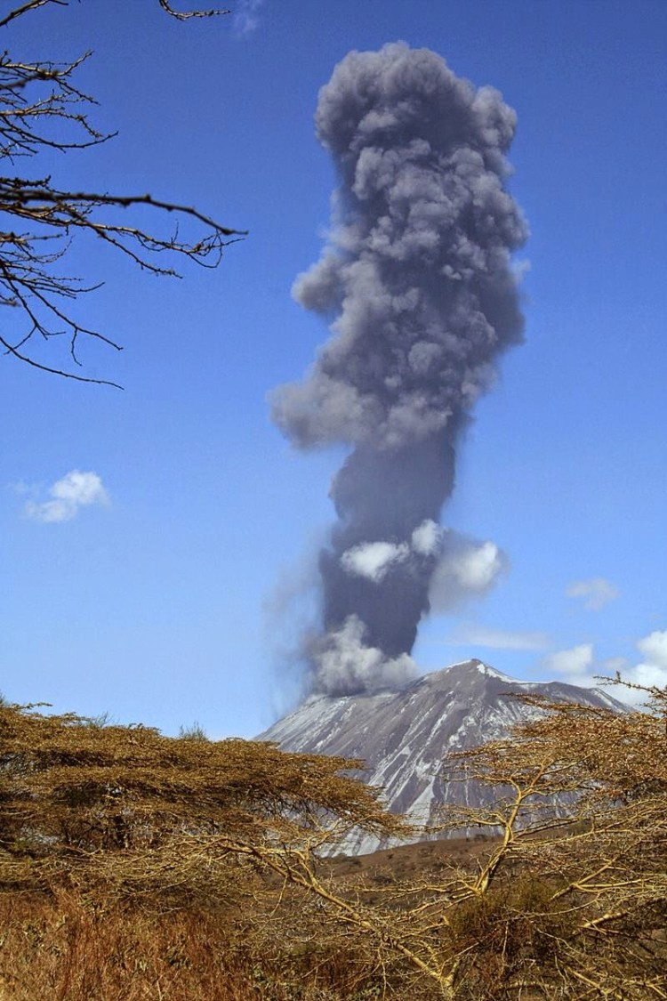 This is one of the rarest volcanoes in the world, one that spews natrocarbonatite lava.
