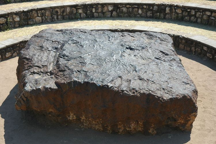 The Hoba meteorite is believed to have fallen more than 80,000 years ago.