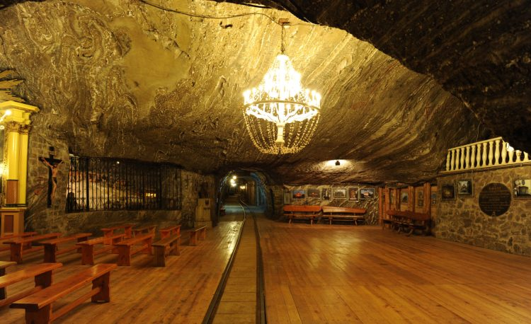 The Bochnia Salt Mine in Bochnia, Poland is one of the oldest salt mines in the world.