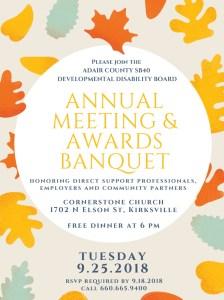 SB40 Awards Banquet Flyer