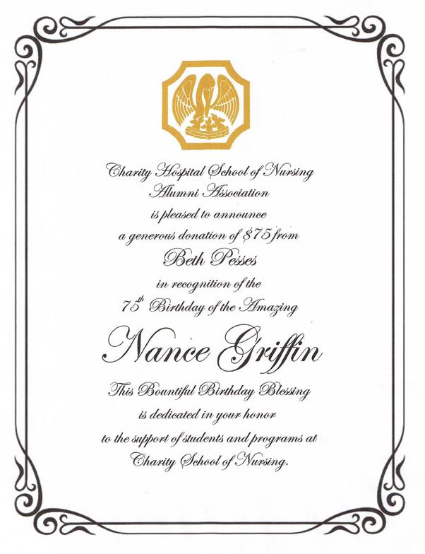 Charity Hospital School of Nursing Alumni Association