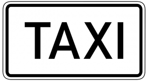 image of sign for taxi in livermore by charity cab