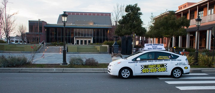 charity Cab waiting for livermore CA customer needing taxi service