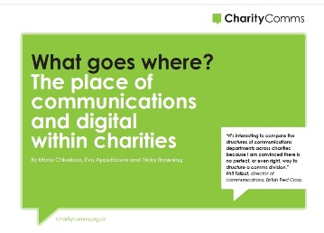 Organogram Report: What goes where? The place of communications and digital within charities