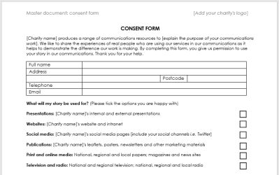 Case study consent form template