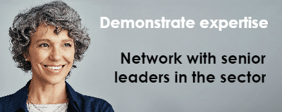 Want to network with other leaders in the sector? Here's how we can help!
