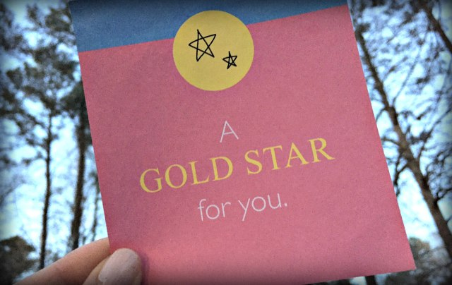 You Deserve a Gold Star