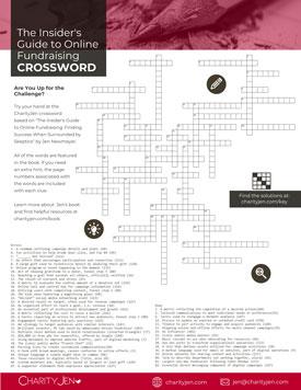 CharityJen Insider's Guide Crossword