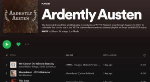 Ardently Austen Spotify Playlist