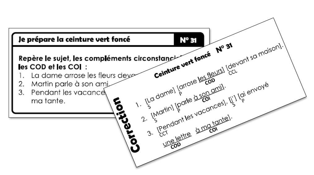Nouvelles ceintures de grammaire v2018 (avec version DYS