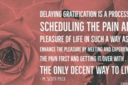 Quote on Delaying Gratification by M. Scott Peck