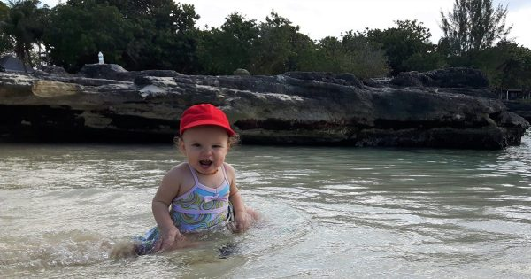 paradise, beach, toddler