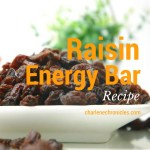 California Raisin Energy Bar Recipe