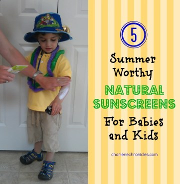 natural sunscreens for kids!