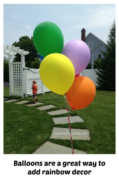 balloons rainbow party theme