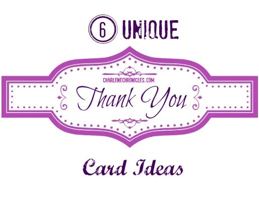 unique thank you card ideas to thank people for birthday presents baby shower gifts Christmas gifts and more