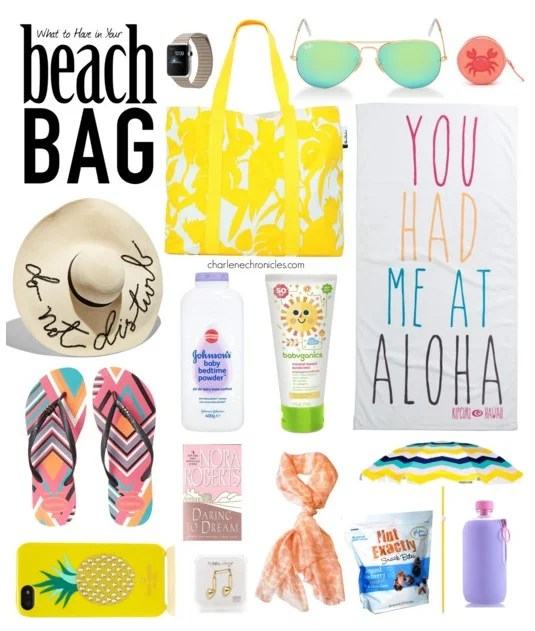 must have beach bag items