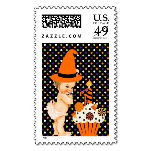 halloween_babys_first_birthday_postage_stamp-rc611dc664f7d4999811649530d4d0f32_zh1ul_8byvr_512