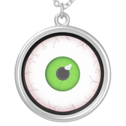 halloween_eyeball_round_pendant_necklace