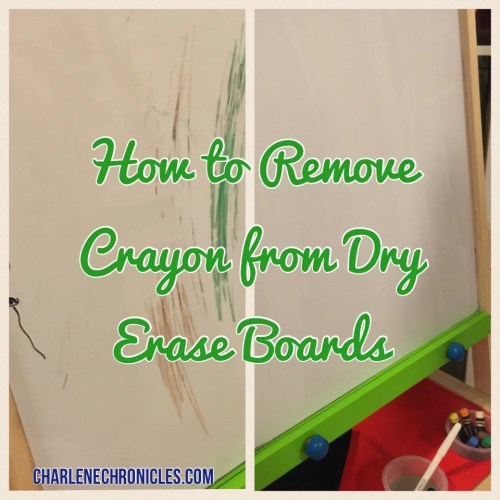 how remove crayon dry erase board white board