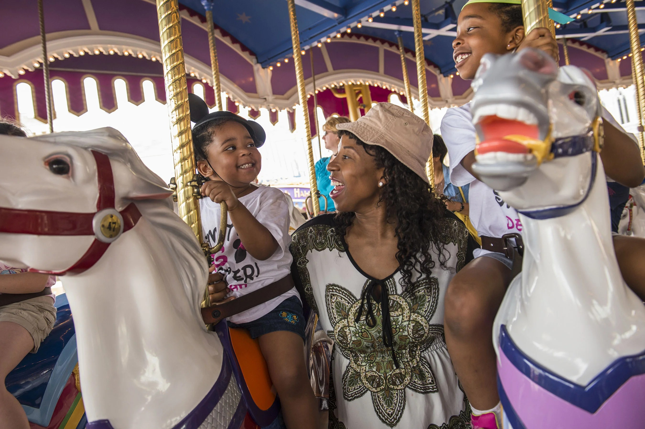 Fun with Little Ones on the Prince Charming Regal Carrousel
