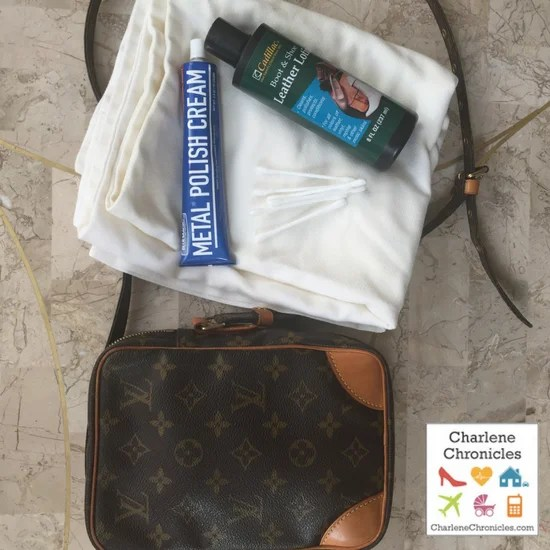 how to clean vintage louis vuitton bag